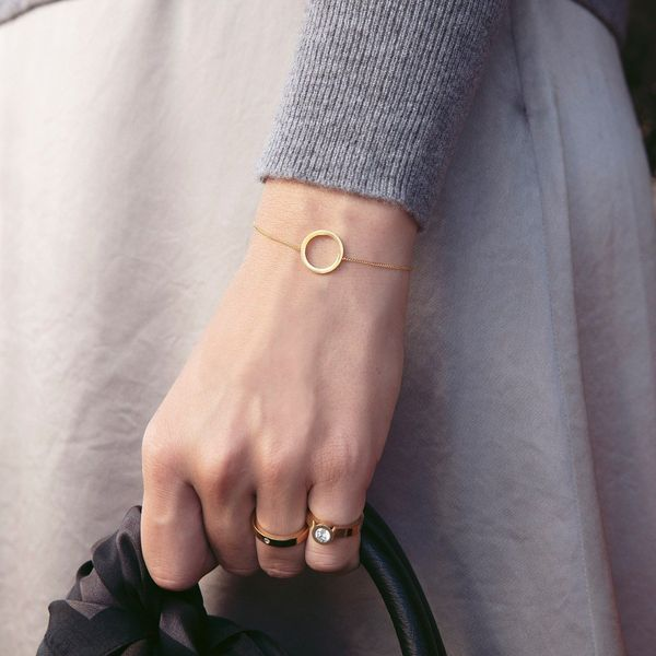 Matt Gold Plated Circle Bracelet