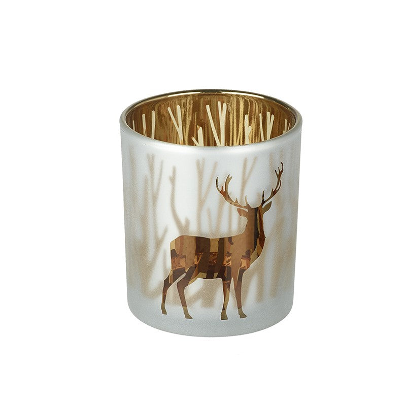 gold stag tea light holder