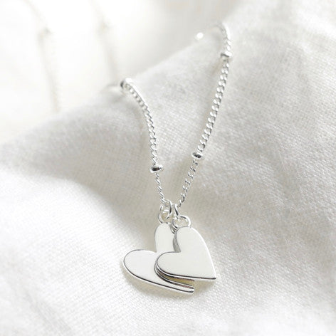 Silver-plated-double-heart-necklace