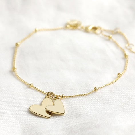 gold-plated-double-heart-bracelet-on-satellite-chain