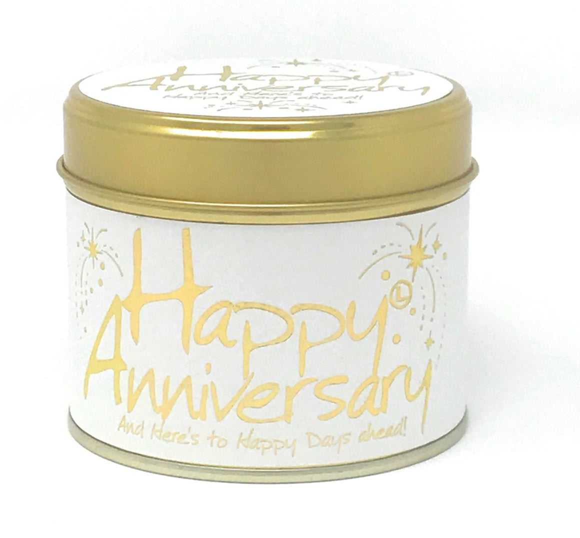Lilly Flame happy anniversary tin candle