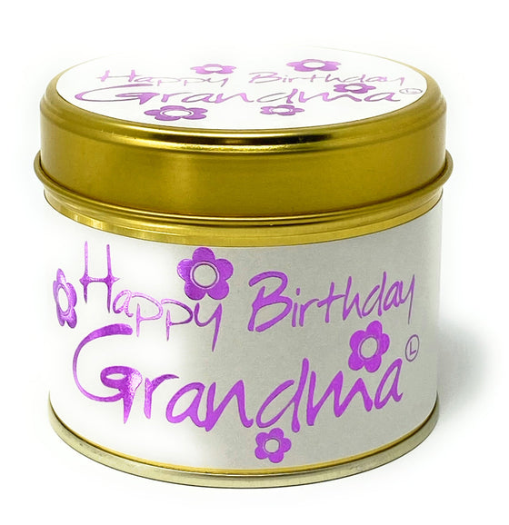Lily Flame Happy birthday Grandma Scented Candle