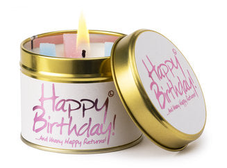 Lily Flame Happy Birthday Scented Tin Candle