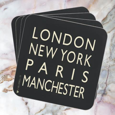 London New York Paris Manchester Coaster