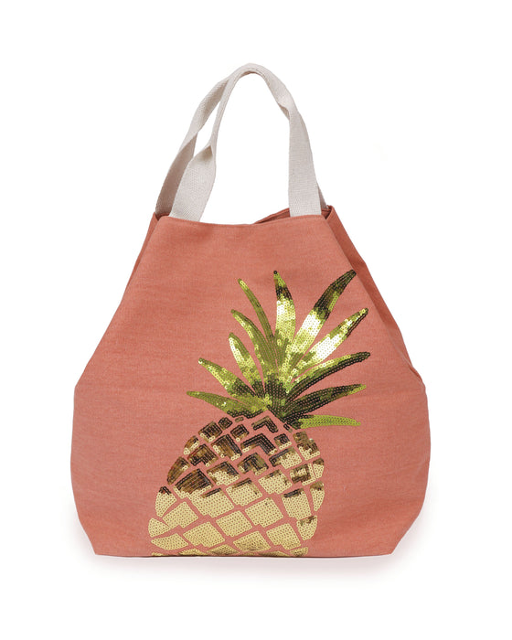 Powder Boho Pineapple Bag - Coral