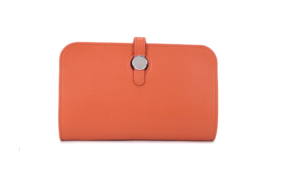 Orange Wallet and Coin Purse
