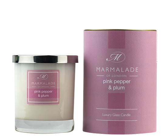 Marmalade of London Pink Pepper & Plum Large Glass Candle 50 hrs