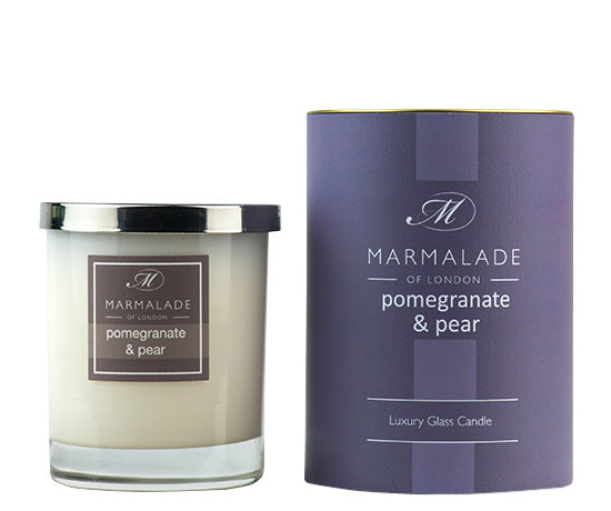 Marmalade of London Pomegranate & Pear Large Glass Candle 50 hrs