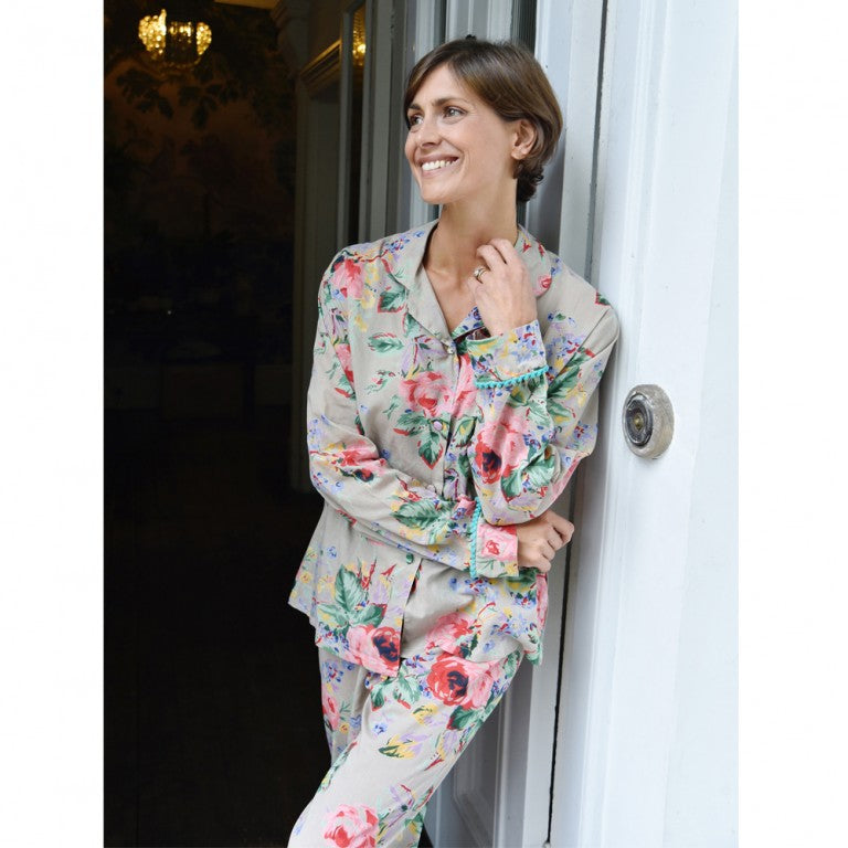 Floral Blush Cotton Ladies Pyjamas