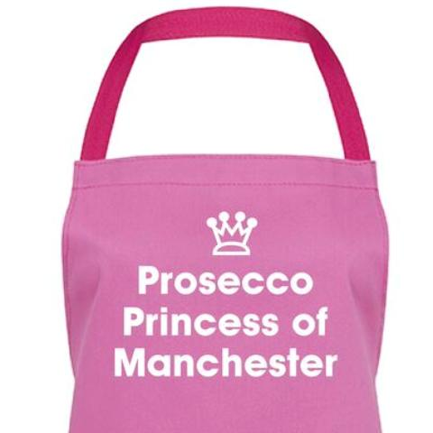Prosecco Princess of Manchester Apron