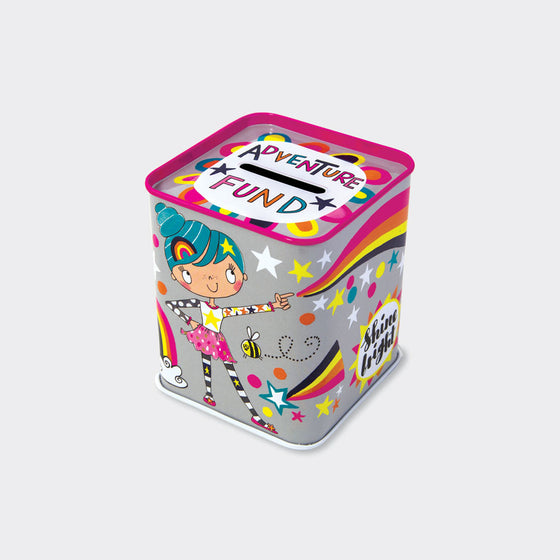 Rachel Ellen girl power colourful  adventure fund money boxf