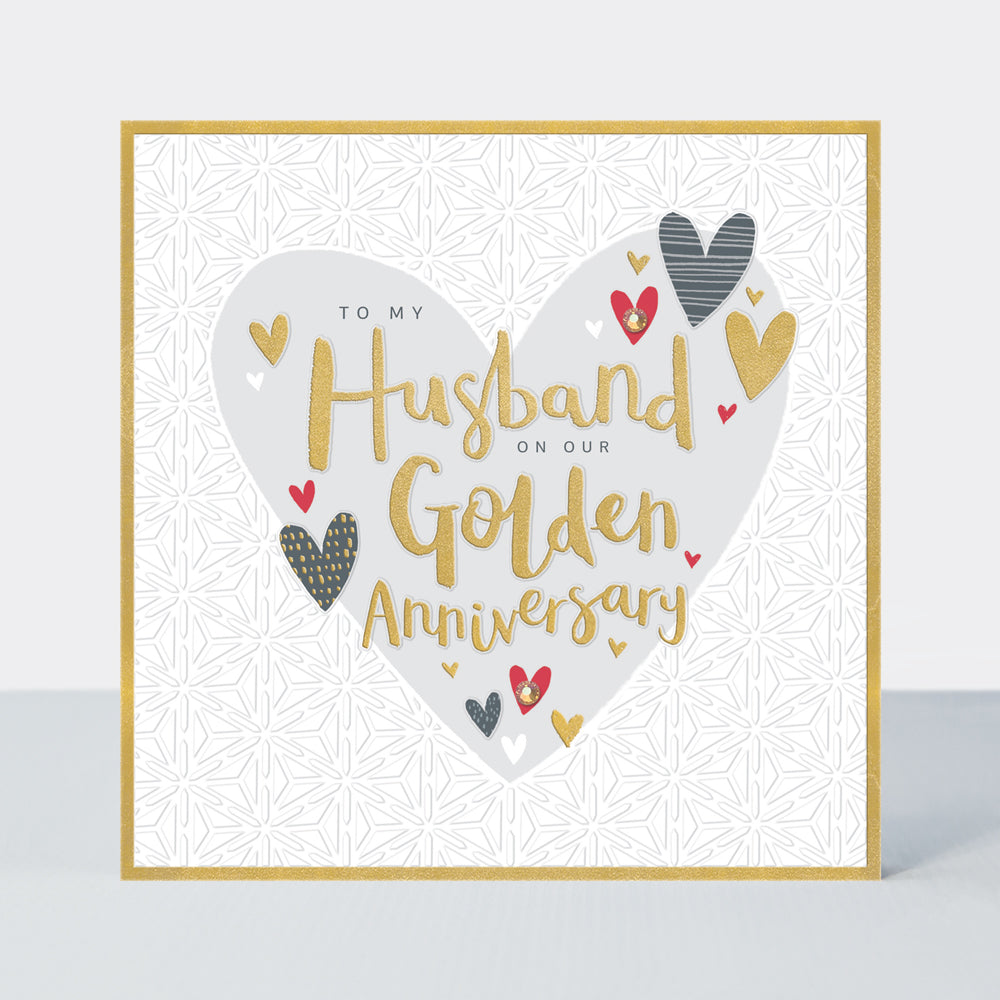 to my husband on our golden wedding anniversary hearts