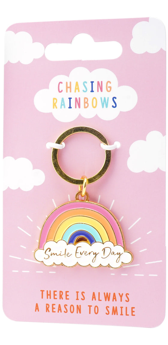 Rainbow Key Ring - Smile Every Day