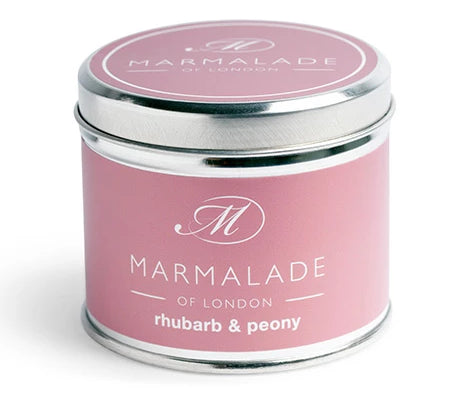 Marmalade of London Rhubarb & Peony Medium Tin 40 hrs