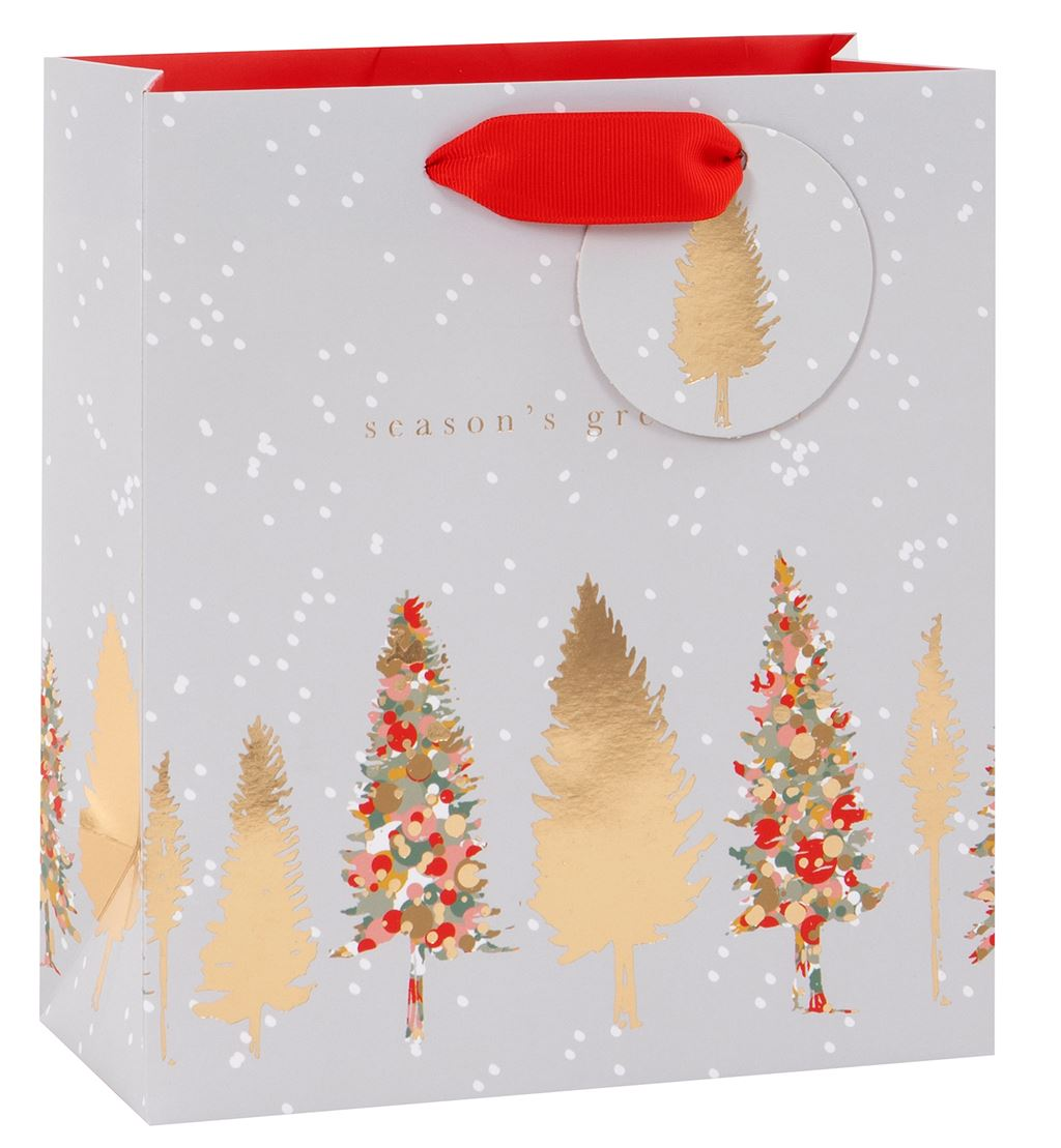 Season's Greeting Medium Christmas Tree Gift Bag