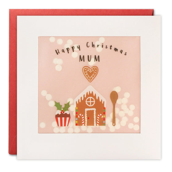Shakies Happy Christmas Mum- Gingerbread house-paper confetti