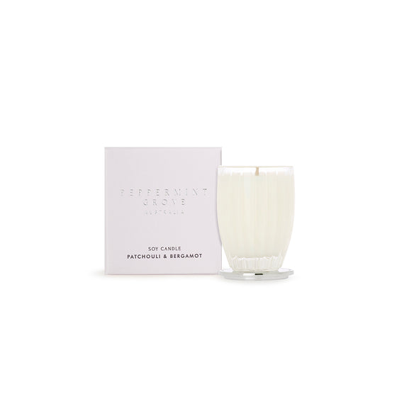 Peppermint Grove, Patchouli & Bergamot Small Soy Candle