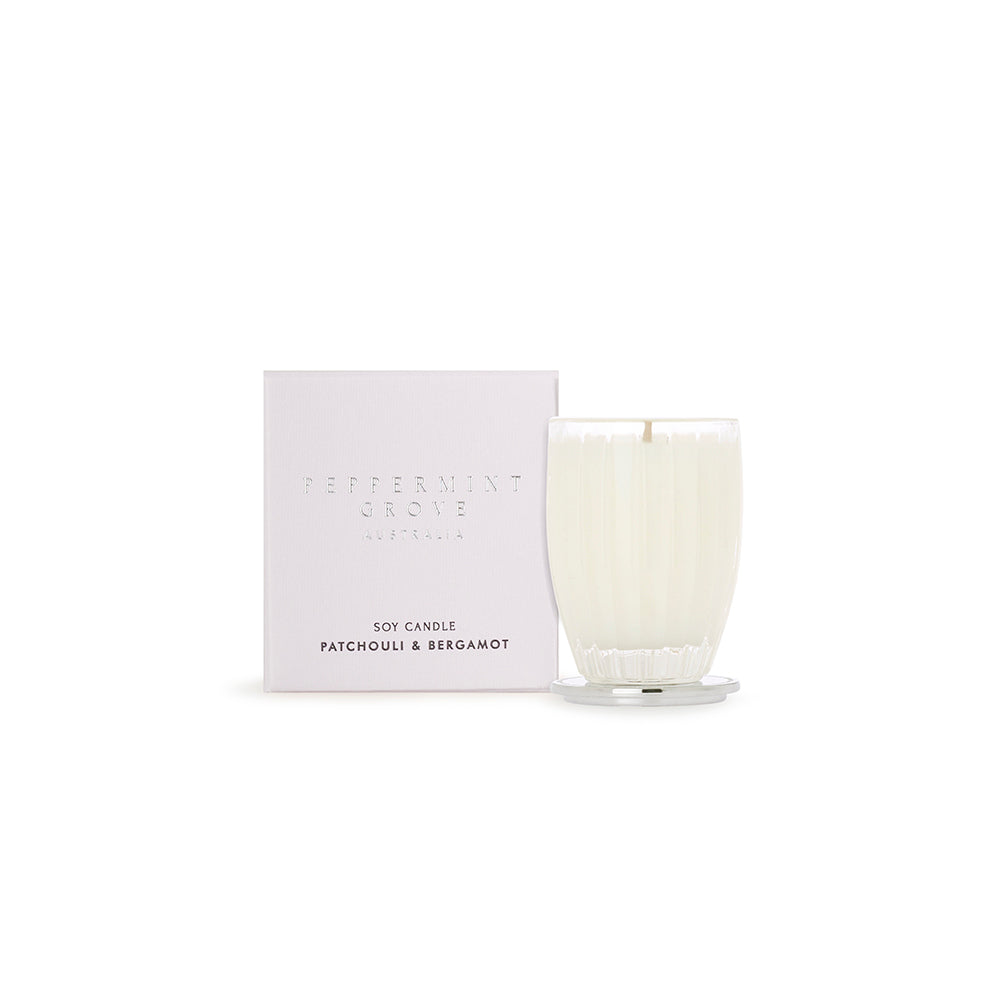 Peppermint Grove, Patchouli & Bergamot Small Soy Candle 60g