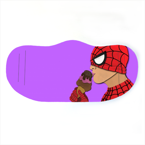 Face Mask - Spiderman Eating Ice Lolly