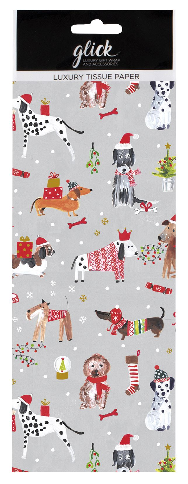 Christmas Dogs Tissue Paper