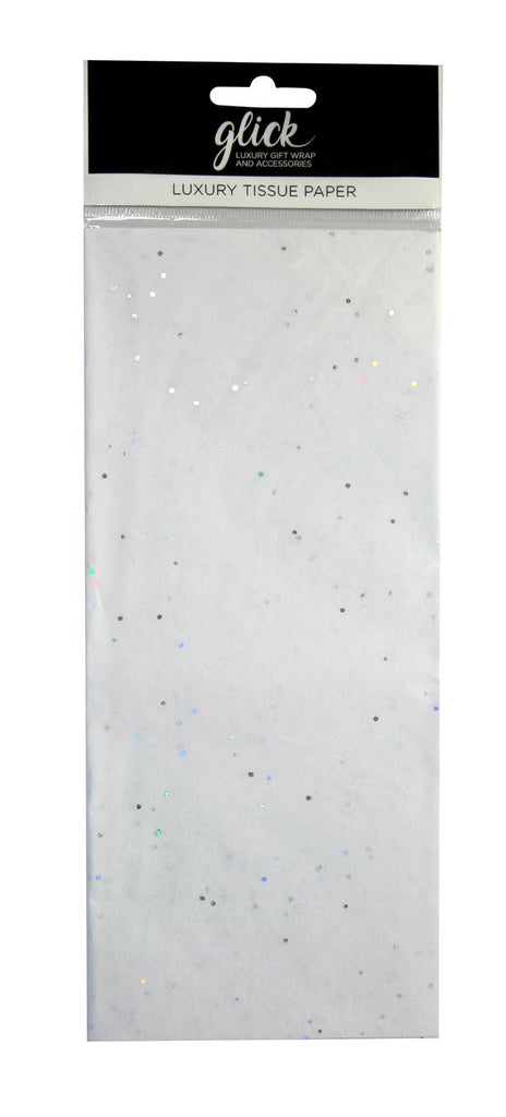 White Sparkle Tissue Paper