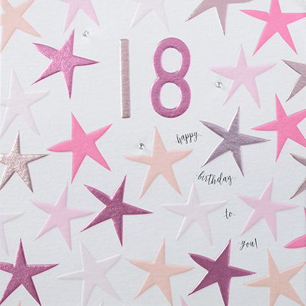 18 Happy Birthday To You Pink Stars