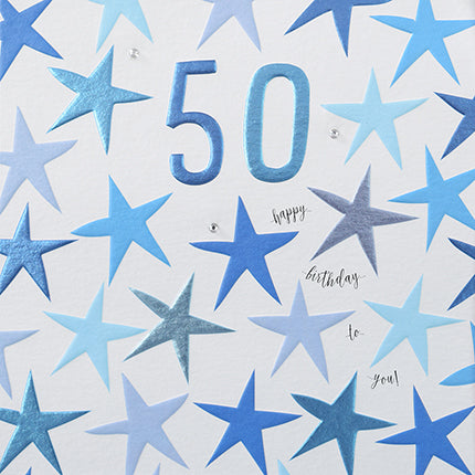 50 Happy Birthday To You Blue Stars