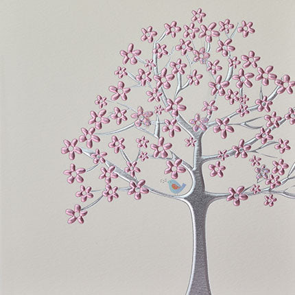 wendy jones blackett bird in pink tree