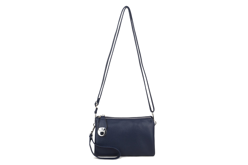 Three Way Navy Cross Body Bag