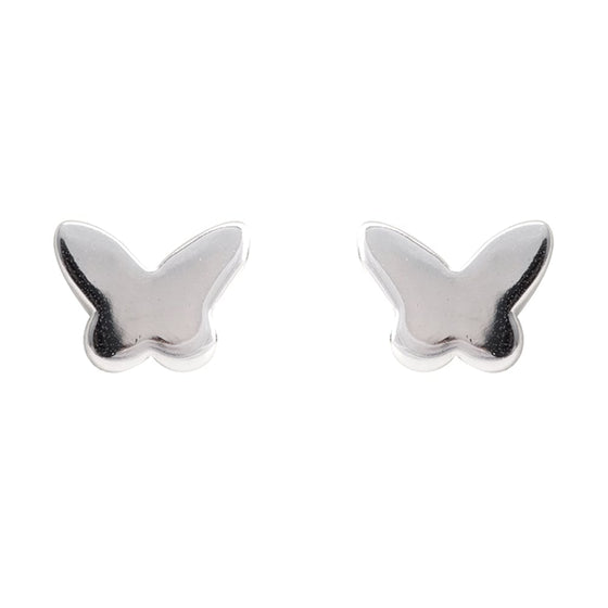 Danish Collection Butterfly Silver Stud Earrings