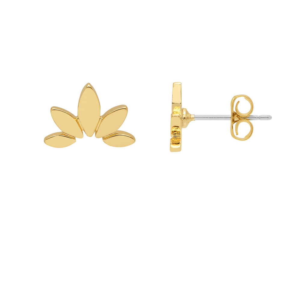 Estella Bartlett Half Flower Earrings Gold Plated