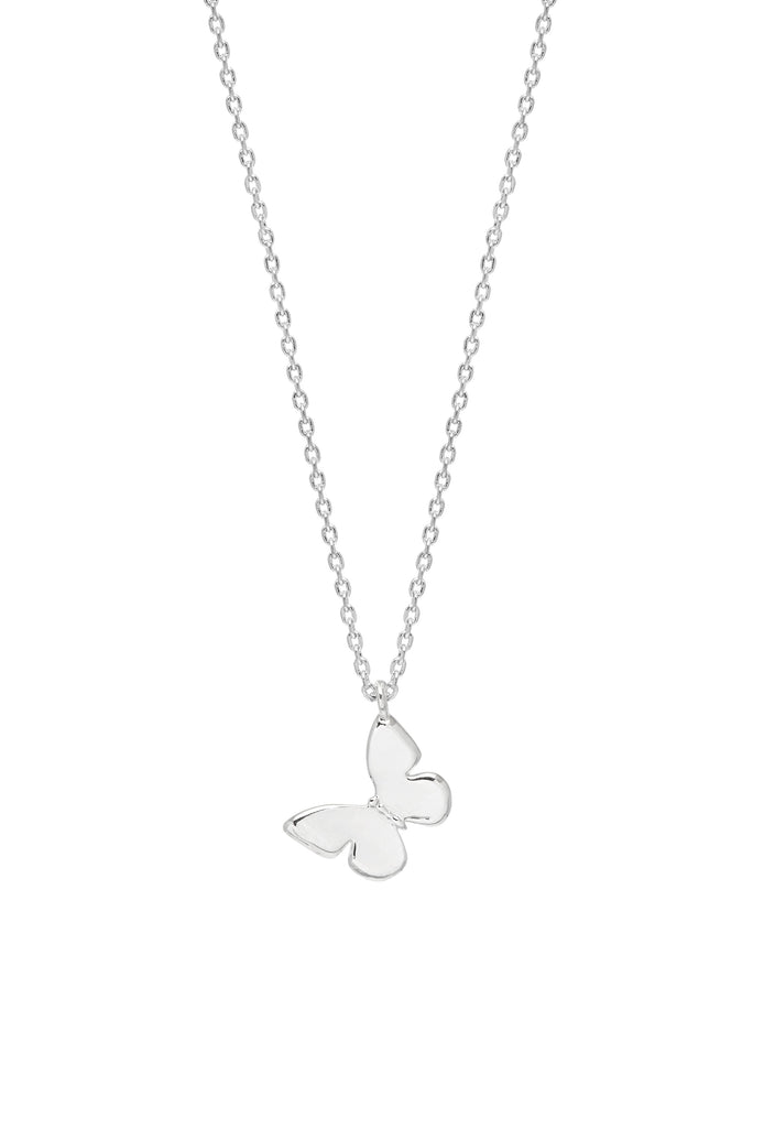 Estella Bartlett Silver Plated Butterfly Necklace