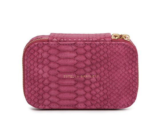 Estella Bartlett Raspberry Snake Print Small Jewellery Box