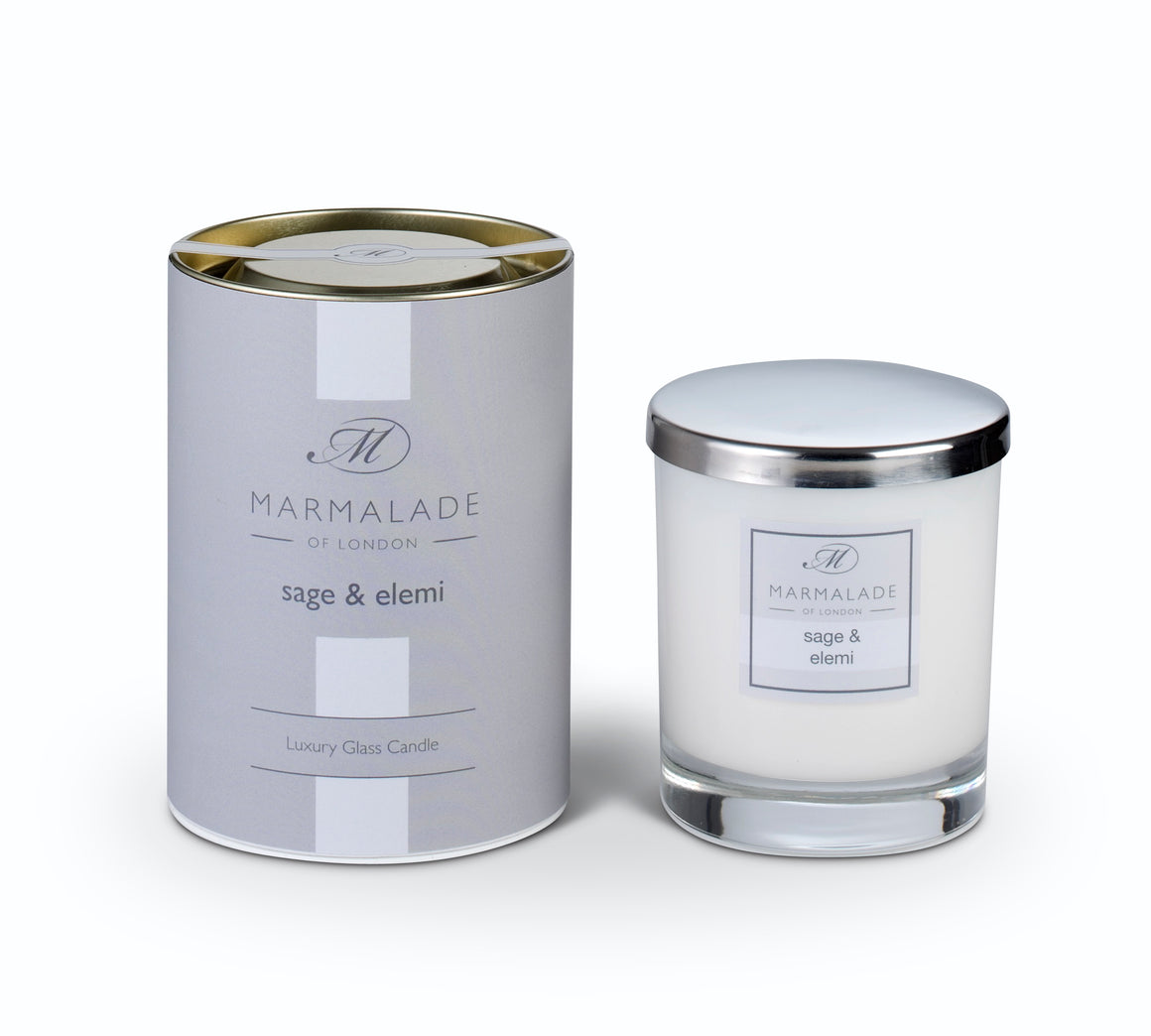 Marmalade of London Sage & Elemi Large Glass Candle 50 hrs