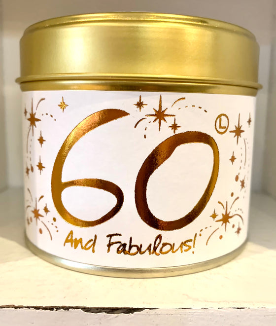 Lily Flame Happy Birthday 60 Scented Candle