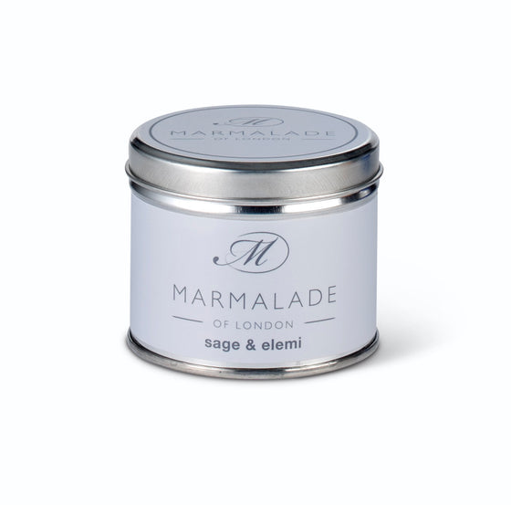 Marmalade of London Sage & Elemi Medium Tin Candle 40hrs