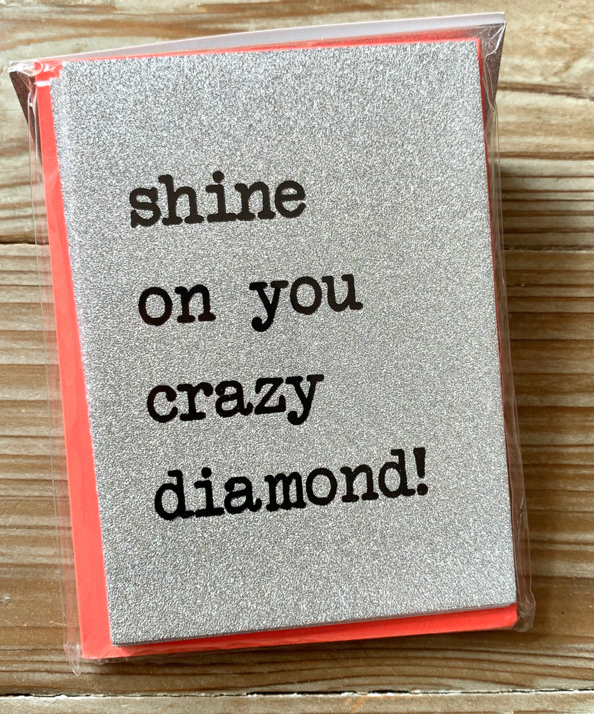 Shine On You Crazy Diamond Glitter Notecards