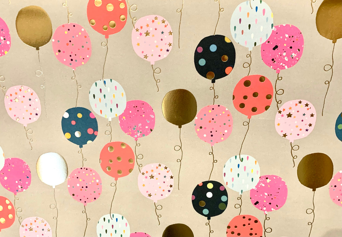 Pink Balloon Wrapping Paper