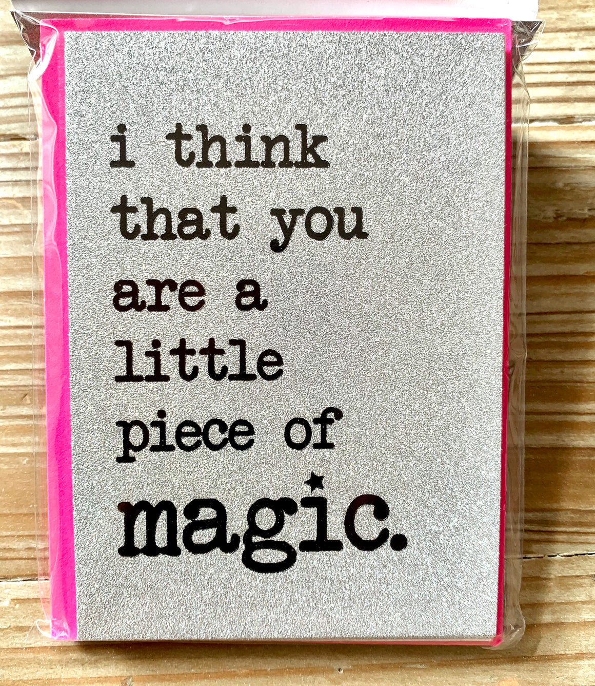 A Little Piece Of Magic Glitter Notecards