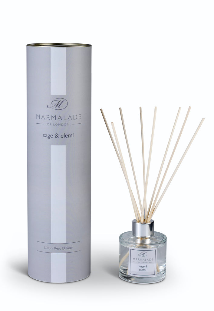 marmalade of London sage 7 elemi diffuser grey packaging