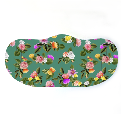 Face Mask - Frida Floral Green