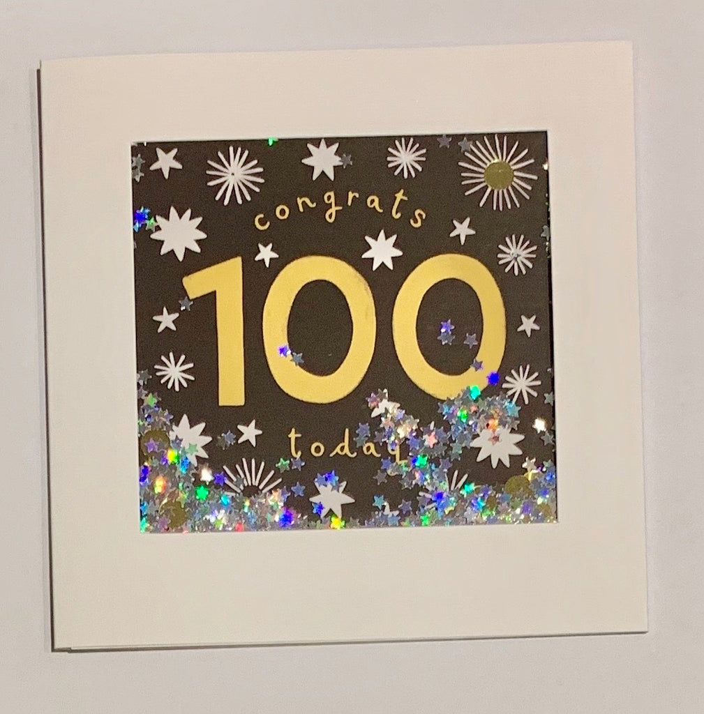 Shakies 100 Birthday Card