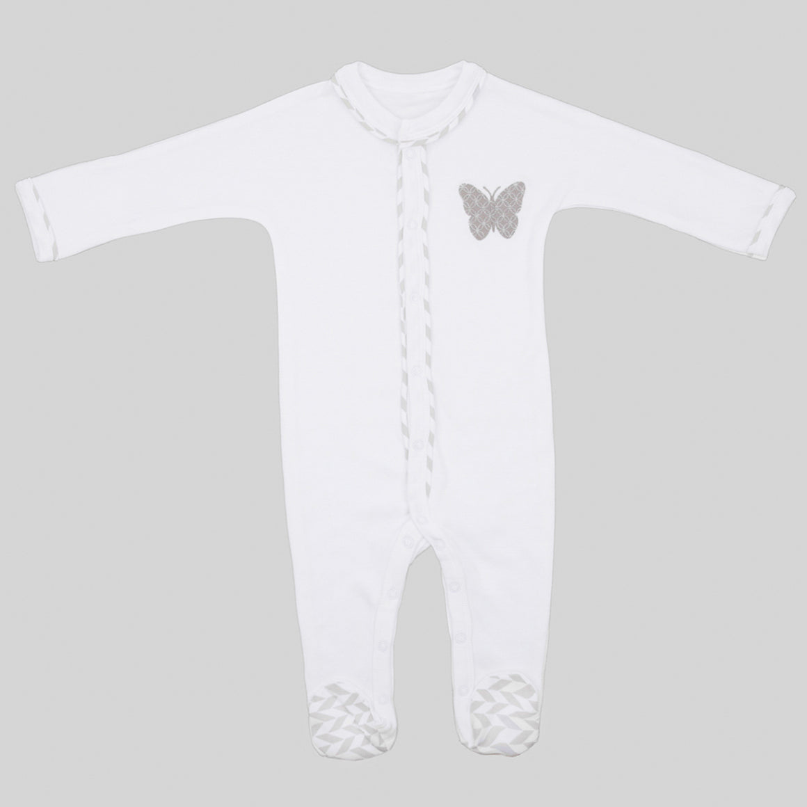Lily & Mortimer Romper suit white/grey
