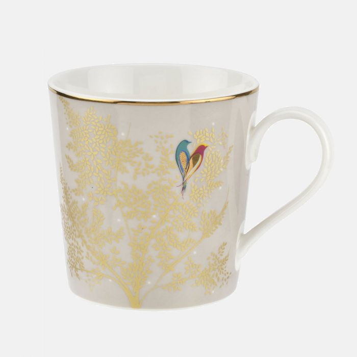 Sara Miller London Pale Grey Lovebird Mug