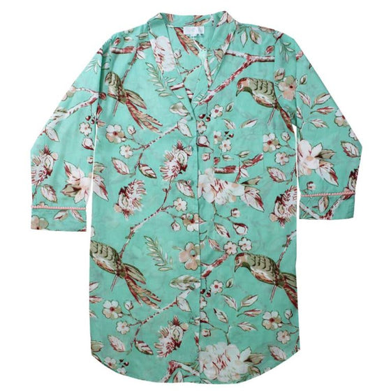 Mint Blossom Ladies Nightshirt