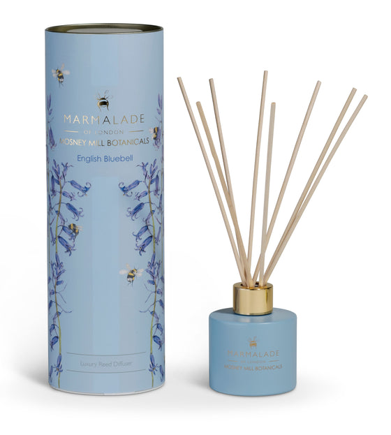 Marmalade of London Mosney Mill english bluebell  diffuser with bluebells and bees bees