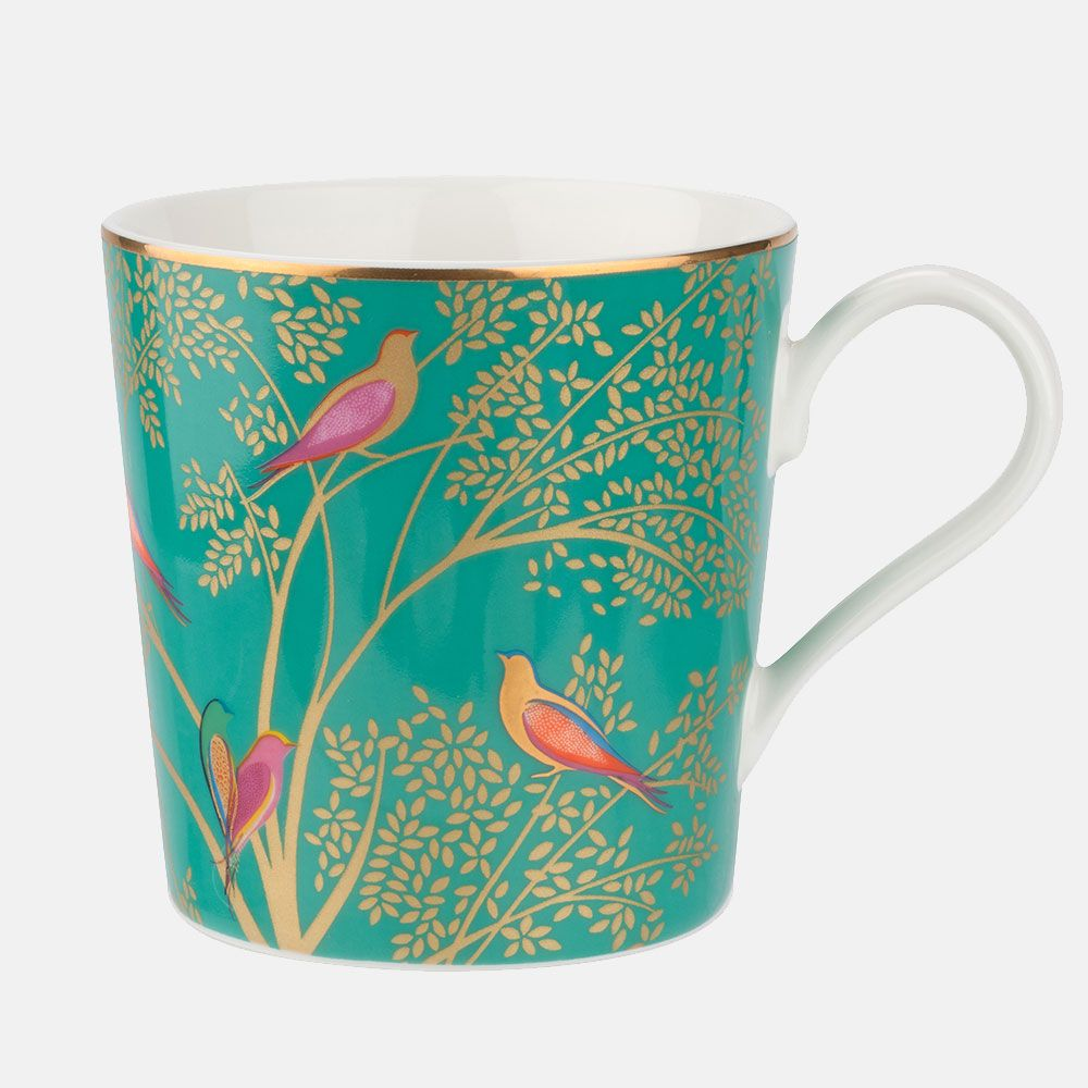 Sara Miller London Green Birds Mug