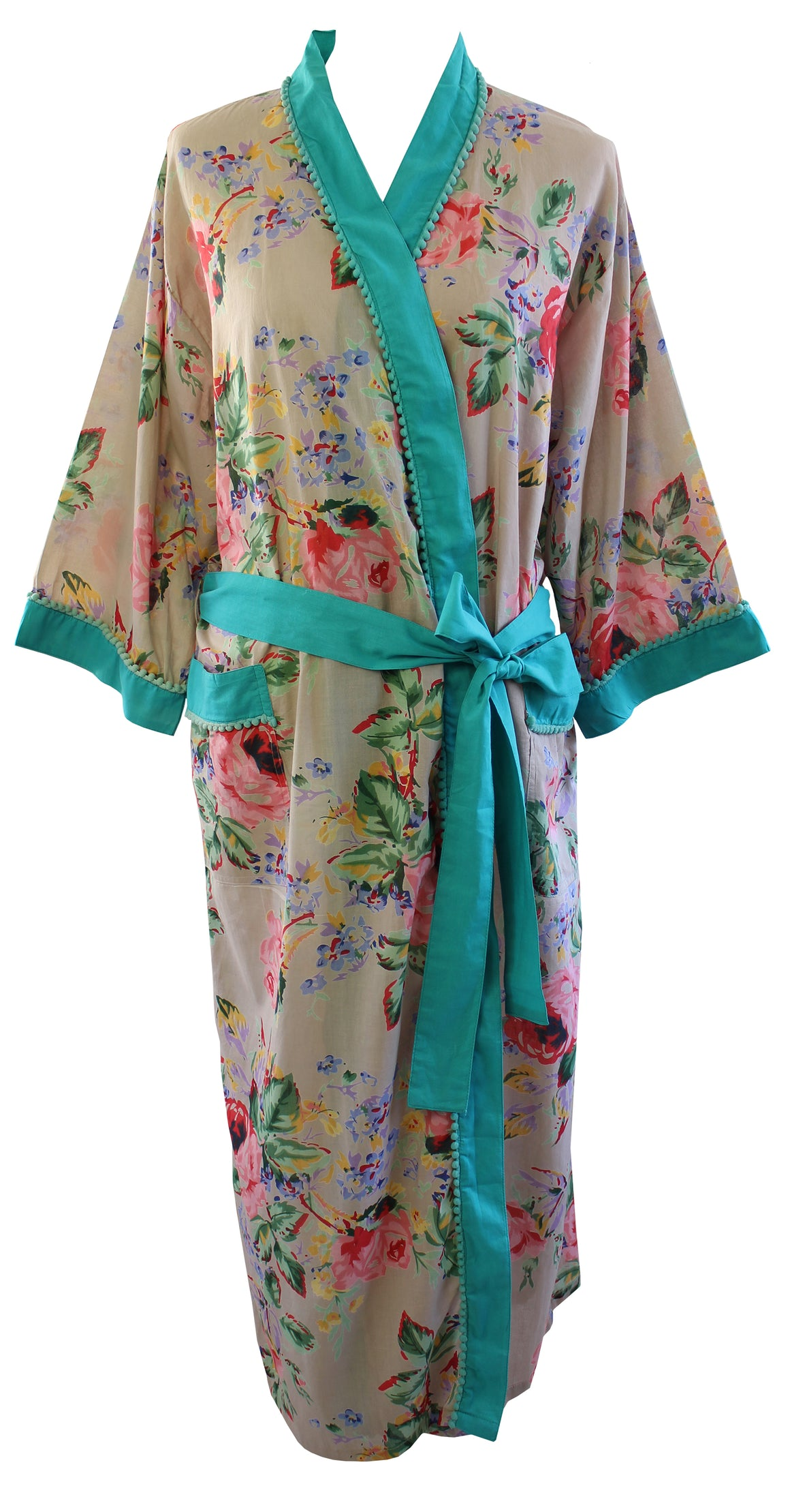 Floral Blush Cotton Dressing Gown