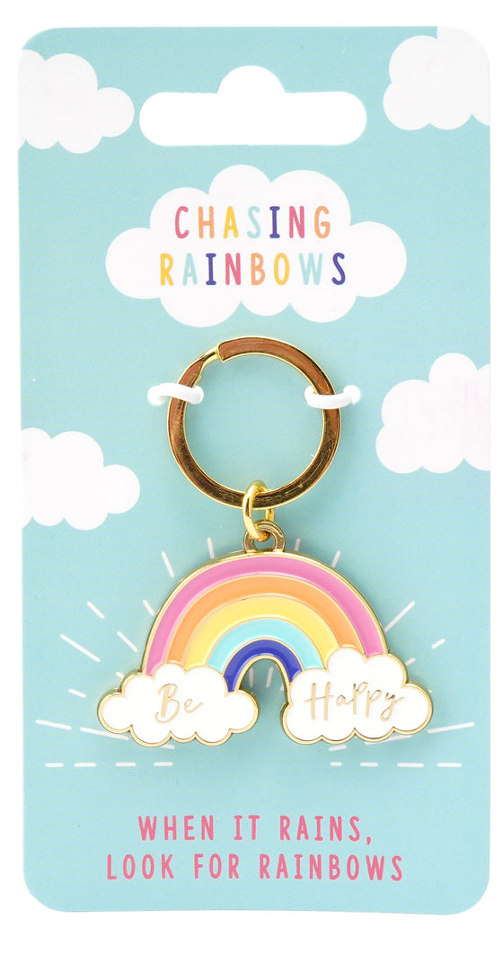 Rainbow Key Ring - Be Happy