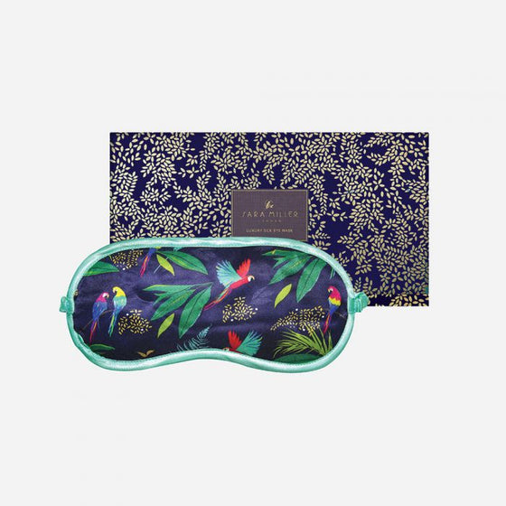 Sara Miller Parrot Silk Eye Mask